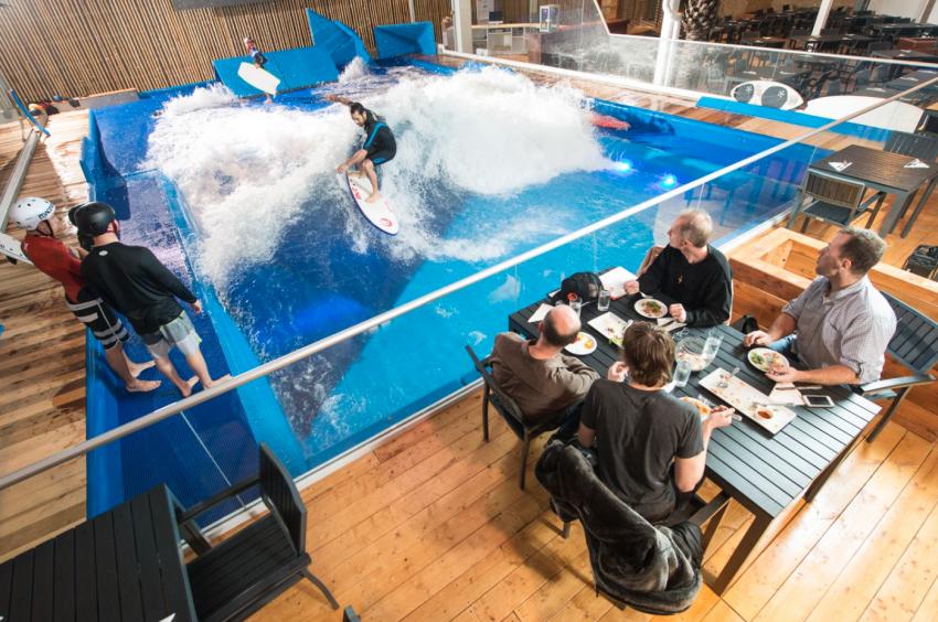 Oasis Surf Action Shot Dining | Surf Park Central